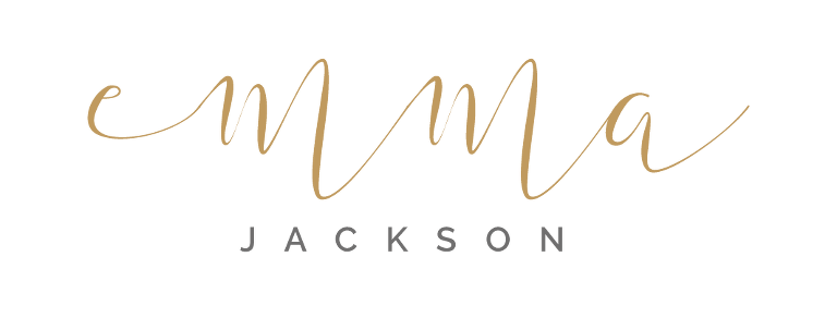 Emma Jackson Photography logo in gold and grey
